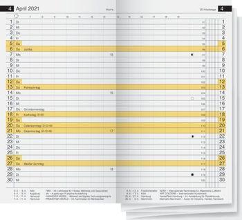neu Idena Taschenplaner Ersatzeinlage 2020 mit Monatsregister 1 Monat=2Seiten