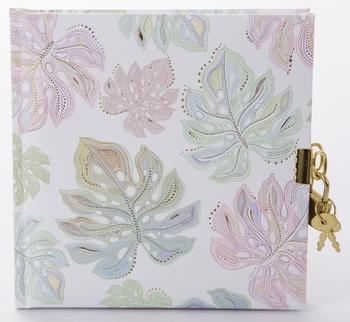 19 x 18 cm Poesiealbum Flora Leaves 114 Seiten