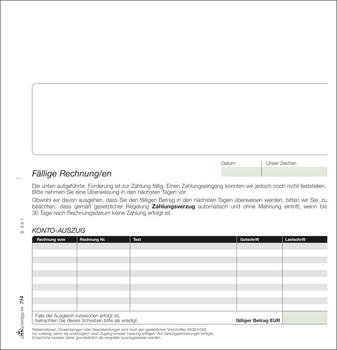 Rnk Verlag Mahnsatz Sd 1 X 4 Blatt 16 Din Sma Bürologistik