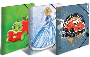 Sammelmappe A4 mit Gummizug Eckspannmappe aus Pappe für Kinder Motive sortiert