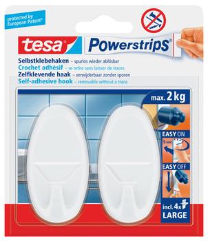 Tesa Powerstrips Systemhaken Ablösbar Oval Weiß Tragfähigkeit