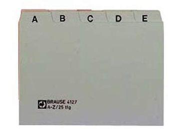A5 quer Leitregister PP grau