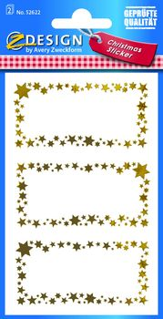 22 Aufkleber Effektfolie AVERY Zweckform 52420 Weihnachtssticker Engel
