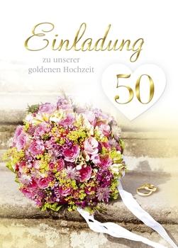 Einladung Goldene Hochzeit 5 Stück Inkl Umschlag Büro