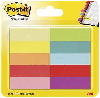 Post-It 670-10AB Page Marker 10 x 50 Blatt, schmale Blöcke, 12,7 x 44,4 mm