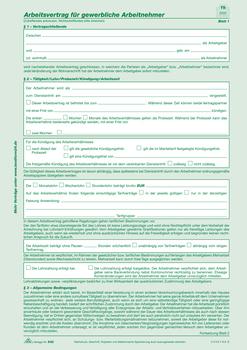 Rnk Verlag Arbeitsvertrag Für Gewerbliche Arbeitnehmer Sd