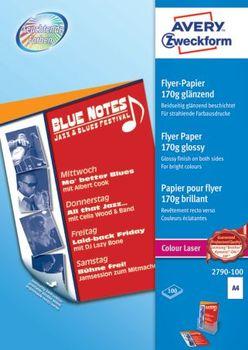 Avery Zweckform 2790 100 Colour Laser Flyer Papier Din A4