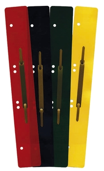 Heftstreifen Kunststoff kurz Deckleiste aus Metall rot 25 Stück Q-Connect