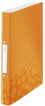 2 Ringe Leitz 4257 Ringbuch WOW 25 mm orange metallic PP A4
