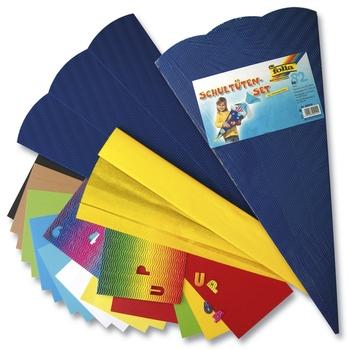 3D Wellpappe Schultüte Rohling Bastelschultüte farbig