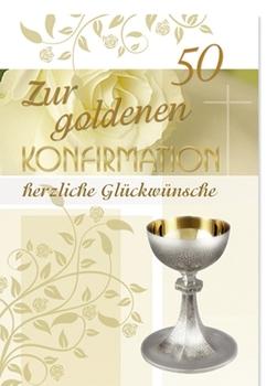 Karte Zur Goldenen Konfirmation Inkl Umschlag