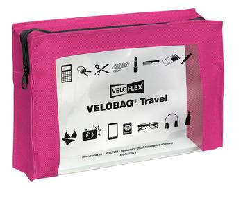 Veloflex Reißverschlusstasche Velocolor Travel Pvc Pink 230 X