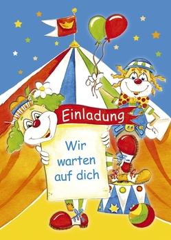 Kurt Eulzer Druck Einladungskarte Kindergeburtstag   10 Stück, Sortiert