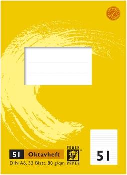 Power Paper Oktavheft Lin52 A6 32 Blatt 80 G Qm Kariert