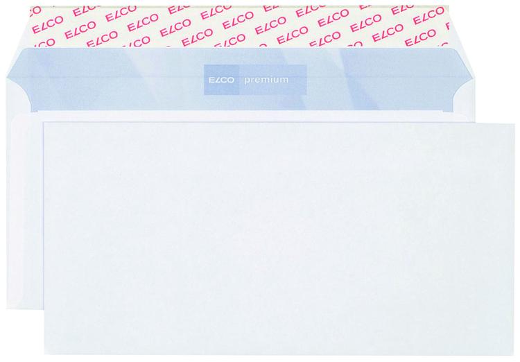 Elco Briefumschlag Premium C56 Hochweiß Haftklebend Innendruck
