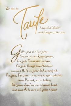 Kurt Eulzer Druck Taufkarte Text Gott Gebe Dir Hemmer