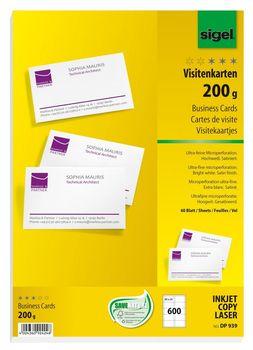 Sigel Visitenkarten Microperforiert Satiniert200 G Qm