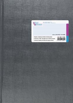 348 x 257 mm Spaltenbuch in Kopfleisten-Ausf/ührung 26 Spalten