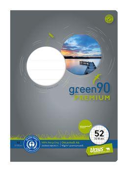 Ursus Green Oktavheft Lin52 A6 32 Blatt 90 G Qm 5mm