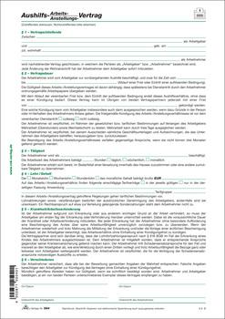 Rnk Verlag Aushilfs Arbeits Und Anstellungsvertrag 1 Seite Din