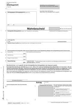 Rnk Verlag Antrag Mahn Und Vollstreckungsbescheid Arbeitsgericht