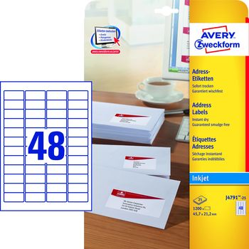 Avery Zweckform Adress-Etiketten Etiketten weiß Rand 210x297 25 Stück Drucker
