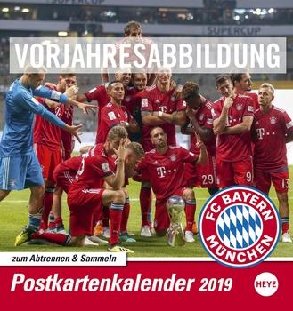Heye Postkartenkalender Fc Bayern München 16 X 17 Cm