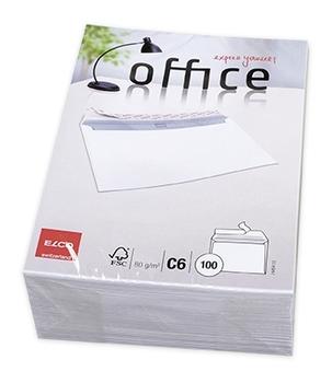 Elco Briefumschlag Office C6 Hochweiss Haftklebend Ohne Fenster
