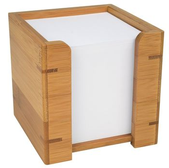 Wedo Zettelbox Mit Papier Bambus Bcb S A