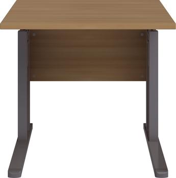 Welle Möbel JOBexpress Schreibtisch 80 cm breit, Buche-Nachbildung ...