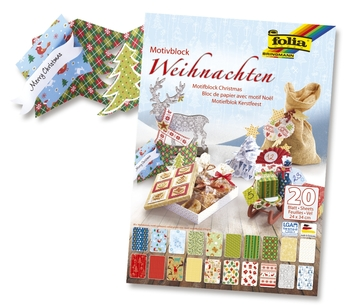 Bastelpapier Weihnachten.Folia Bastelblock Design Weihnachten Iii 20 Blatt 24 X 34 Cm