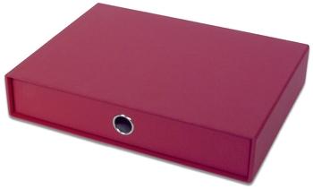 einzel Schublade für A4 rot Rössler Papier Schubladenbox SOHO