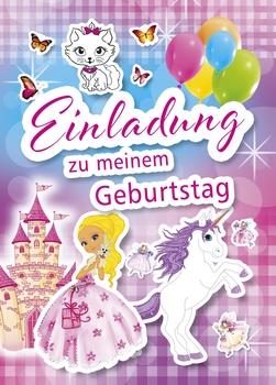 Kurt Eulzer Druck Einladungskarte Kindergeburtstag Mädchen   5 Stück