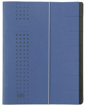 blau A4 Karton Elba Ordnungsmappe chic RC 12 Fächer 450 g//qm