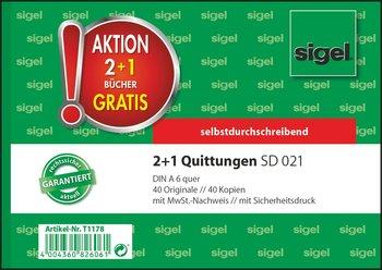 Sigel 2 1 Aktion Quittungen Mit Sicherheitsdruck A6 Quer
