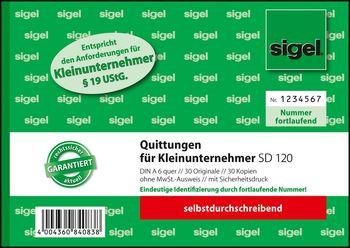 Sigel Quittung Für Kleinunternehmer Ohne Mwst Ausweis A6