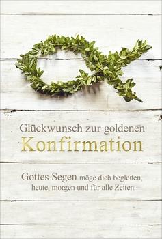 Kurt Eulzer Druck Karte Zur Goldenen Konfirmation Inkl
