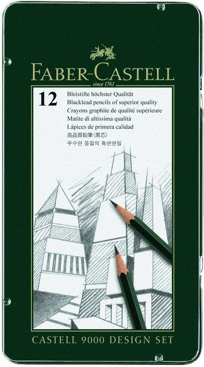 Faber-Castell 9000  Härte 3H 12 Stück 5H 4H 6H lackiert