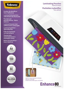 Fellowes Laminierfolie Enhance Mikron Peel Stick A4